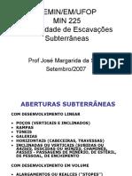 Escavações Subterrâneas - Aula 1MIN225
