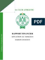 Rapport Financier Raja Club Athletic