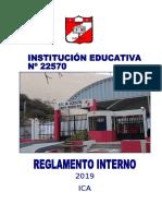 2019 REGLAMENTO INTERNO DE LA I.E Nº22570