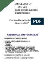 Escavações Subterrâneas - Apostila MIN225