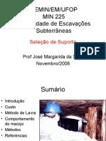Escavações Subterrâneas - Aula de Suporte