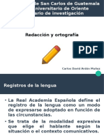 Redacción y ortografía