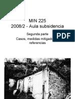 Escavações Subterrâneas - Aula de Subsidência