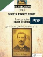 IRRADIACIÓN. Pasillo. Martín Alberto Rueda. Transc. piano Gerardo Betancourt.