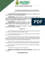 Decreto n. 42.099, de 21 de março de 2020