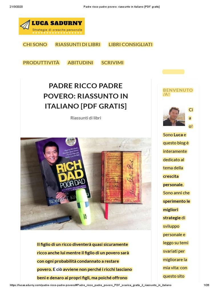 padre ricco padre povero pdf gratis italiano