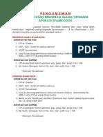 PENGUMUMAN SYARAT UTK REGISTRASI DAN UPGRADE SPAMKODOK V2.pdf