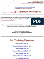 Ear Training Music Education Worksheets