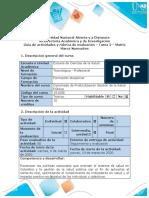 Guía de actividades y rúbrica de evaluación - Tarea 2 - Matriz marco normativo