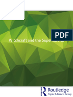 .Witchcraft and the Supernatural a Routledge Freebok