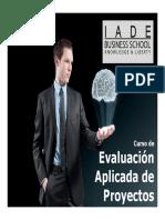 Brochure Curso Evaluación Aplicada de Proyectos