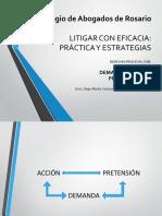 1 - Curso colabro - Litigar con eficacia - Demanda - Medidas preparatorias - Definitivo - Agosto 2017