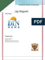 Internship Report on DIN News