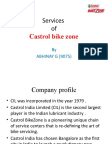 Services of Castrol Bike Zone