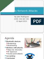 Wireless Network Attacks