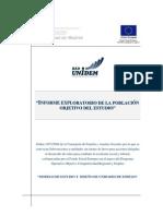 Informe Exploratorio de La Poblacion Objetivo Del Estudio