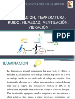 ILUMINACIÓN, TEMPERATURA, RUIDO, HUMEDAD,