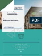 Diagnóstico Del Narcotráfico en Del Departamento Del Cauca, Jose Elver Palechor Uni