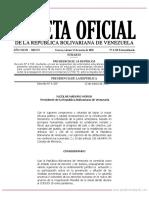 Gaceta Oficial de la República Bolivariana de Venezuela N 6518_Emergencia CORONAVIRUS