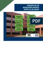 TABLERO DE CONTROL  AGOSTO - NOVIEMBRE 2015