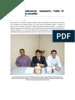 Resumen Conferencia seminario taller ajedrez escuelas