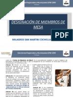 DESIGNACIÓN DE MIEMBROS DE MESA-ERM 2018