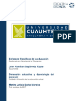 Dimensión educativa y deontología del profesor