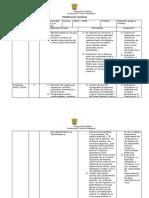 Planificación Semanal 8 básico, 1 unidad