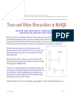 Trees and other hierachies desing in mysql