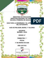 GUÍA DE RELIGION MODULO MARIBEL VEGA