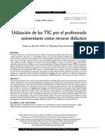 Utilización de las TIC por el profesorado como recurso didactico