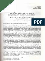 Variación dialectal del maya Yucateco. MAAYA CH'E'EN.pdf