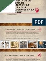 Importancia de la ingeniería de materiales