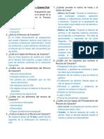 Cuestionario DERECHO PROCESAL ADMINISTRATIVO - EXAMEN FINAL