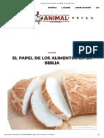 El papel de los alimentos en la Biblia - Animal Gourmet
