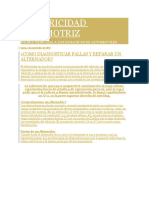 REPARAR FALLAS DE ALTERNADOR