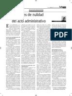 Causales Nulidad Acto Administrativo - Autor José María Pacori Cari