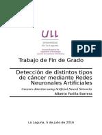 Deteccion de distintos tipos de cancer mediante Redes Neuronales Artificiales