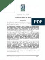 Acuerdo 013-CG-2019 Reforma a las Normas de Control Interno