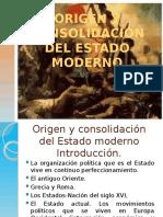5 CLASE CINCO ORIGEN Y CONSOLIDACIÓN DEL ESTADO MODERNO.pptx