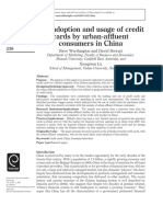 1. The adoption and usage of credit card by urban -affluent consumers in china