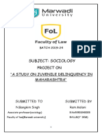 Juvenile Delinquency In Maharashtra