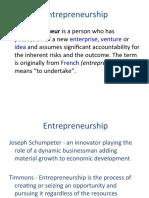 Entrepreneur development-class