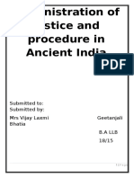 Administration of justice and procedure in Ancient India.docx