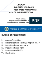 Lingkod _ pursuing discipline-based and interest-based approaches