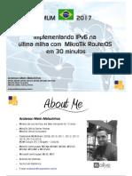 Implementando IPv6 na última milha com MikroTik
