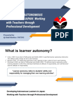Discussing learner autonomy development in Japan