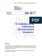 EA 10 17 Manometer Calibration