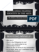 DEVELOPING FILIPINO IDENTITY IN THE ARTS