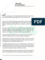 OMT. Carta del turismo sostenible